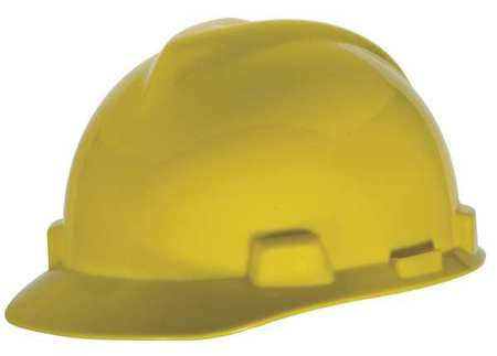 Yellow Hard Hat v-gard small w/staz-on Size Small -466356