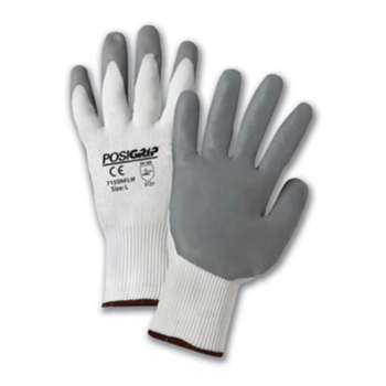 715NFLW POSIGRIP WHITE NYLON SHELL WITH GRAY LUNAR FOAM NITRILE COATING