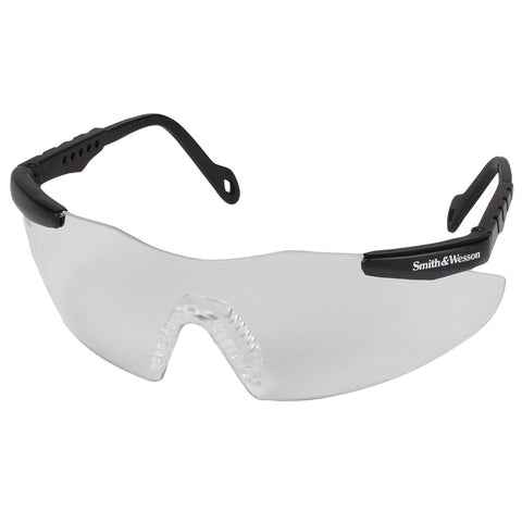 (2 Pairs) Magnum 3G® Safety Glasses, Clear Lens Black Frame