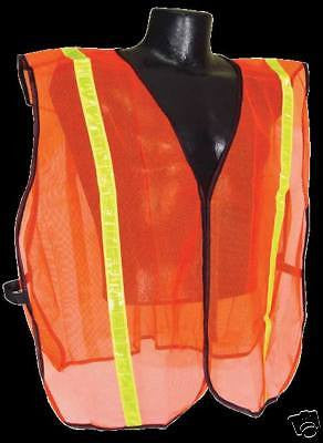 HIGH VISIBILITY SAFETY VEST ORANGE  S/XL MESH * NEW *