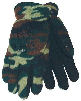 TILLMAN 1586 Camoflauge Polar Fleece WINTER Gloves- LARGE NEW!