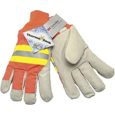 (12 Pairs) Luminator Pigskin Drivers Safety Thermal Gloves