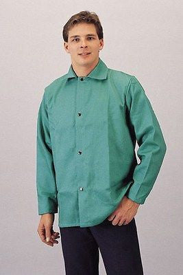 "Green Welding Jacket 1770P 30"" Flame Resistant LOW PRICE! NEW! Sizes S thru 4XL"
