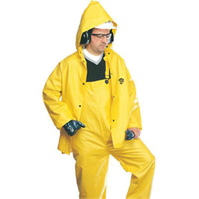 North® 3-Piece Flame-Retardant Rainsuit .35MM PVC, Sizes  L,XL,2XL, 3XL