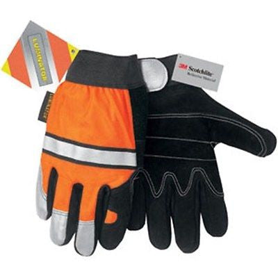 Luminator™ Multi-Task Construction Gloves Orange-Black Size XLARGE NEW Low Price