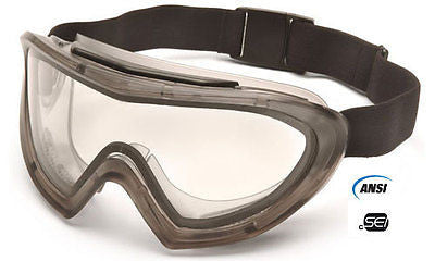 PYRAMEX Safety Capstone Goggles SKI GOGGLES G504DT Dual Lens Clear DIRT BIKE