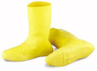 (3 Pack) Hazmat Boot Covers, Yellow Latex (S-XXXL)