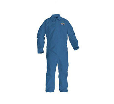 KLEENGUARD A20 COVERALLS PLAIN BLUE DENIM W/ ZIPPER SIZE XL BREAKING BAD COSTUME