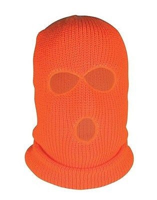 High Visibility Balaclava OK-1 Fluorescent Orange and Lime Thick 2 hole Style