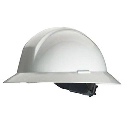 North Everest A49R Wide Full Brim White Hard Hat w/6 point ratchet suspension NEW