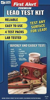LT1 Premium Instant Lead Test Kit - 4 Tests -Check Toys Paint Water Soil Jewelry