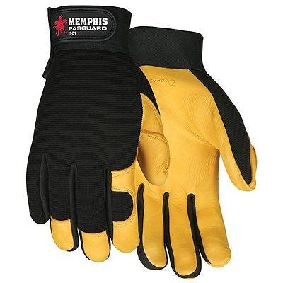 Fasguard™ Deerskin Leather Palm Multi-Purpose Mechanic Gloves Sizes,M,L,XL NEW!