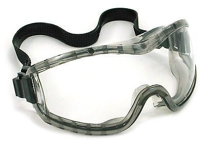 (Pair) Stryker Safety Goggles, Clear Anti Fog Lens
