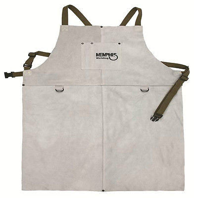 Memphis Welding Leather Bib Aprons Front Pocket 24in x 36in - 38136E