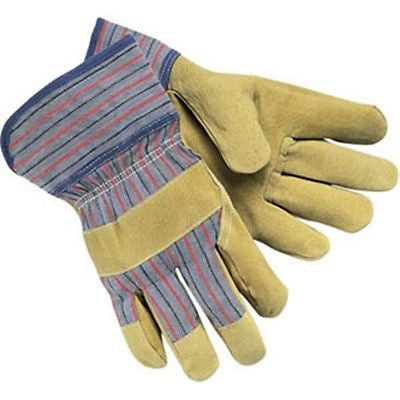 (12 Pairs) Split Pigskin Industry Grade Safety Gloves (L)