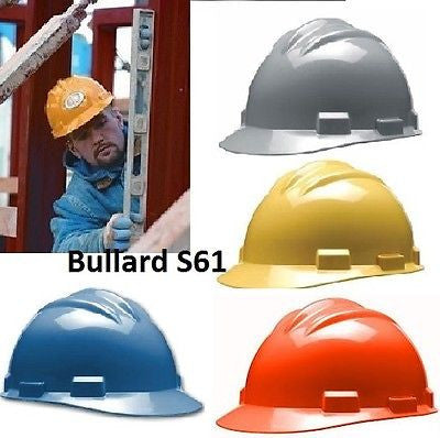 Bullard Safety Hard Hat Cap Helmet S61 4pt Pinlock Suspension COLORS NEW!!