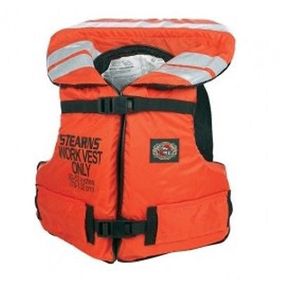 Stearns I222 Work Master Life Vest ORANGE Coast Guard Approved NEW