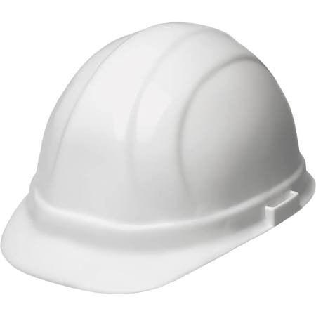 OMEGA II HARD HAT 6-PT WHITE W/SLIDE-LOCK ADJUSTMENT