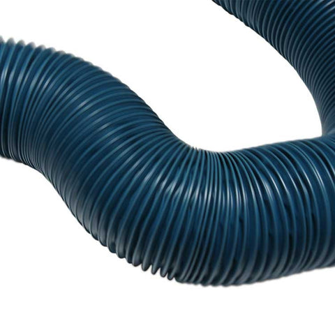 "Clear heavy-duty PVC flex duct, wire reinforced, 10"" dia. x 25'"