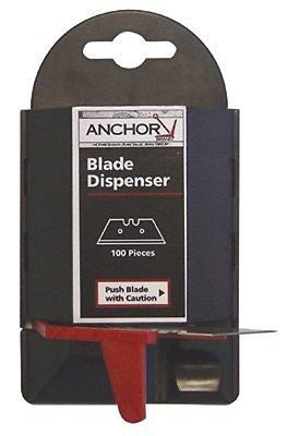 Anchor Knife Blade Dispenser w/100 knife utility blades fits AB-99 AB-2600  NEW