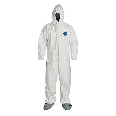 Tyvek Coveralls TY122S w/Respirator Fit Hood, Attached Boots Bunny Suit Costume