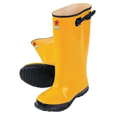 HEAVY DUTY RIVER CITY YELLOW RAIN SLUSH OVER THE SHOE BOOTS Work Safety NEW