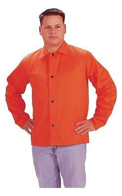 "Tillman X-LARGE 6230D 30"" 9 oz. Hi-Vis Orange FR Cotton Welding Jacket Coat NEW!"