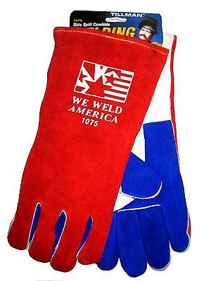 TILLMAN We Weld America 1075 Welding Safety Gloves, Stick, Large, 14 In. NEW!