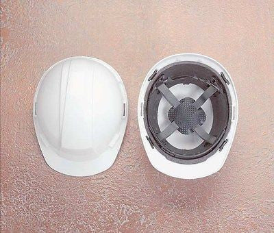 NORTH SAFETY A89R010000 Hard Hat, Front Brim, Slotted, 4-Ratchet, White NEW