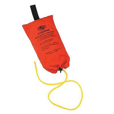 "STEARNS Ring Buoy Rope with Bag, 90' with 3/8"" yellow polypropylene rope NEW"