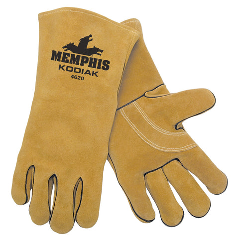 (12 Pairs) MCR Kevlar Sewn Leather Welder's Glove (One-Size)