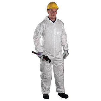 (Case of 25) West Chester PosiWear Coverall with Hood, Elastic Wrists/Ankles (M-4XL)