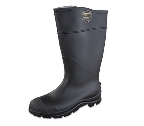 "16"" Black Waterproof Rain Boots (6-15)"