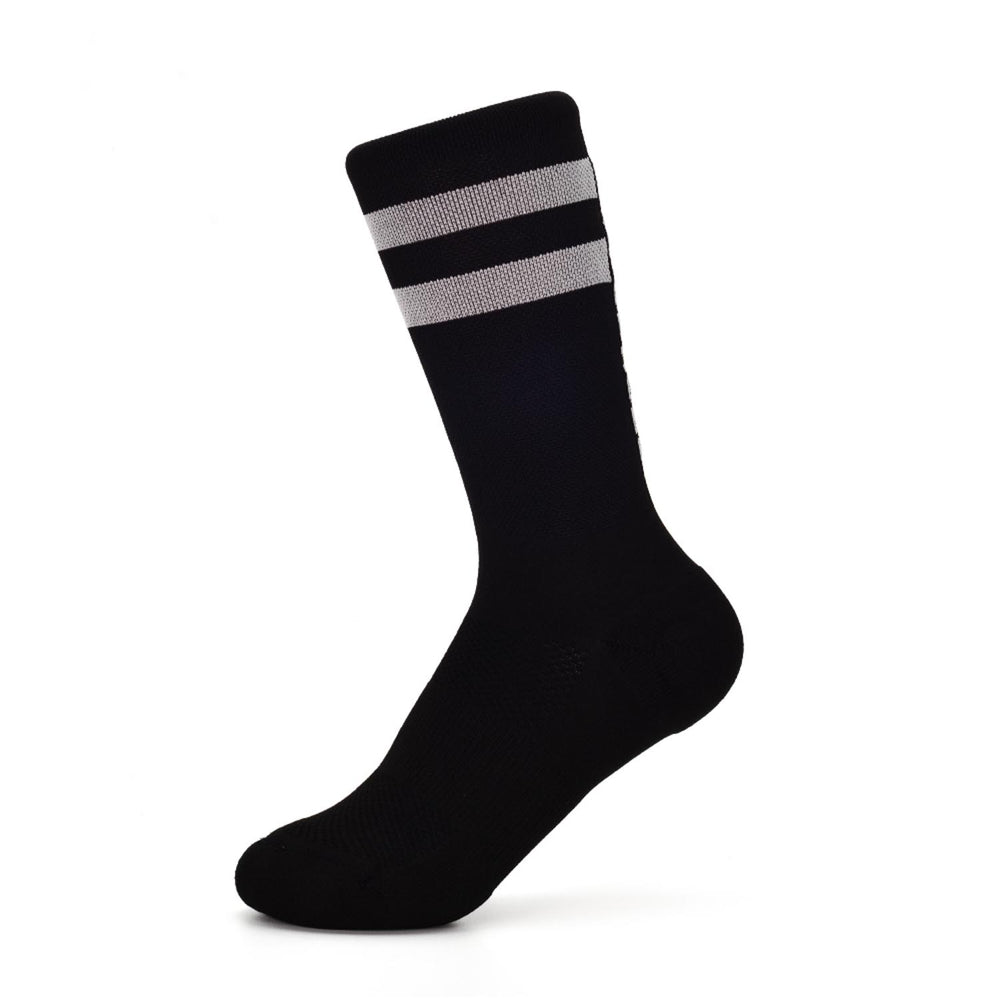 Stoke Signal Socks - The 2.0 - Black/Dark Grey