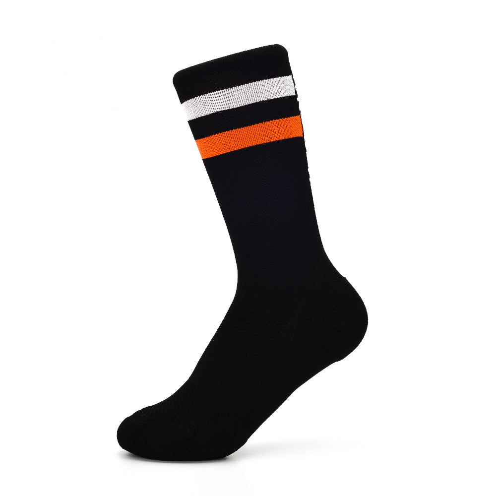 Stoke Signal Socks - The 2.0 - Black/Orange/White