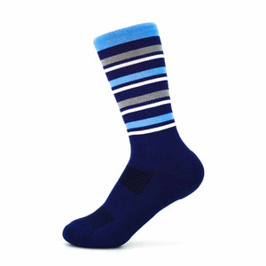 Team Sock - Navy + Light Blue