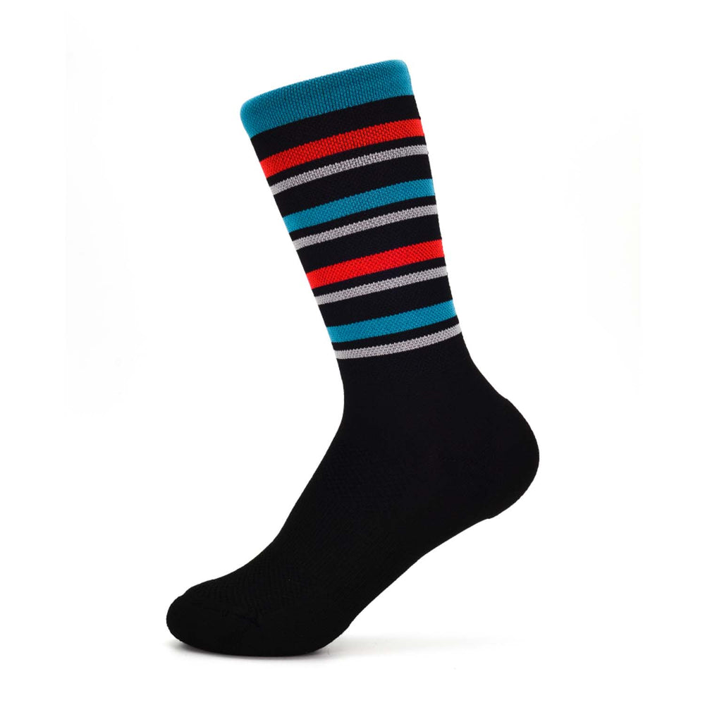 Team Sock - Turquoise + Red