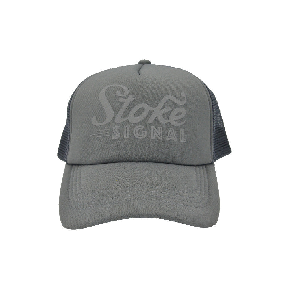 Load image into Gallery viewer, Reflective Logo Running Trucker Hat - Stoke Signal