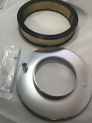 "Image of 4 Barrel Air Cleaner - Chrome 11-1/2"" Dome Style with 5-1/8"" Neck - Filter"