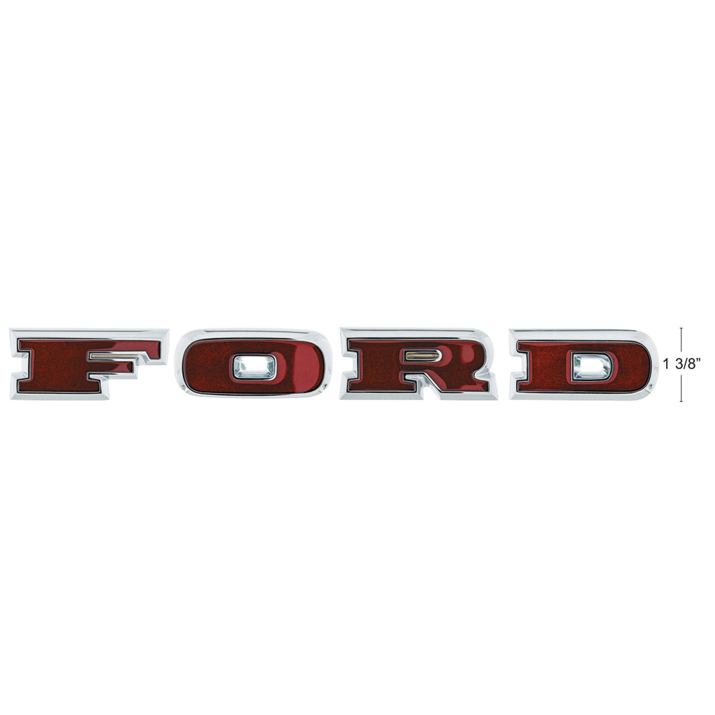"Chrome ""Ford"" Grille Letter Set For 1966-77 Ford Bronco"