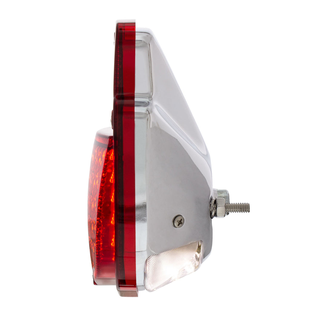 38 LED Sequential Tail Light w/Chrome Housing For 1953-56 Ford Truck - L/H