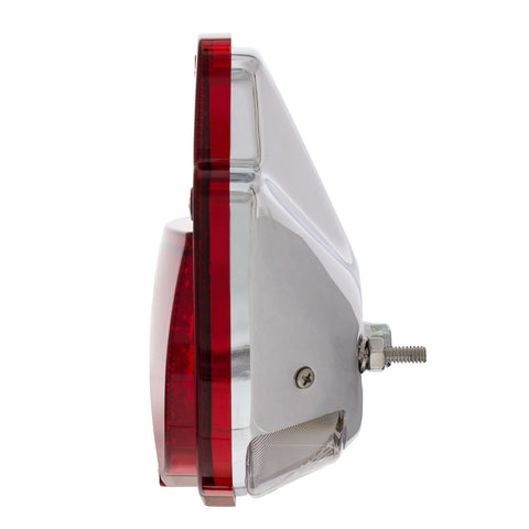 Image of 38 LED Sequential Tail Light w/Chrome Housing For 1953-56 Ford Truck - L/H