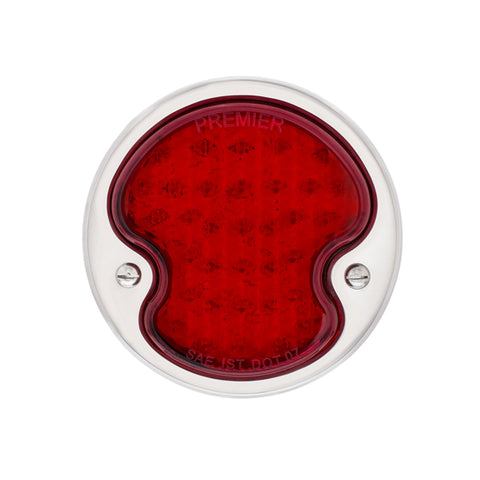 Image of LED Sequential Tail Light w/Stainless Steel Housing For 1932 Ford Car & Truck - L/H