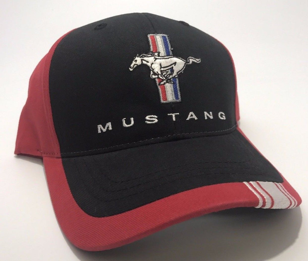 Classic Ford Mustang Hat with Tri Bar Pony Logo (Front)
