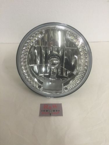 "7"" Crystal Headlight with LED Ring Running Light (Front)"
