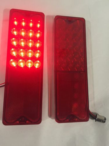 Pair 1967-1972 Chevy Fleetside Truck LED Tail Lights - Tail light