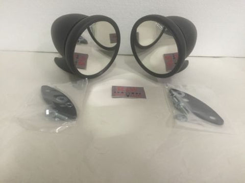 Image of Pair of Bullet Mirrors - Black Side Rear View GT Mirrors - Main