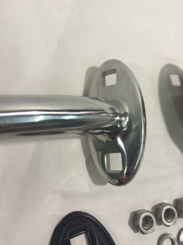 Traditional Style Hot Rod Headlight Mounts - Chrome (Bracket)