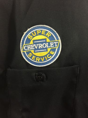 Image of Chevy Mechanic Shirt - Short Sleeve w/ Super Service Logo - Logo