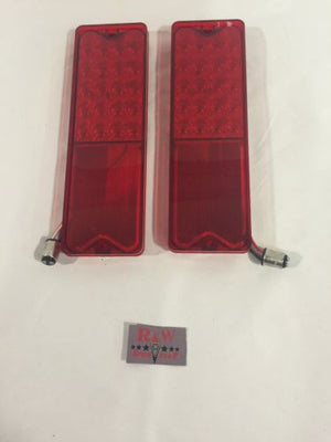 Pair 1967-1972 Chevy Fleetside Truck LED Tail Lights - Main